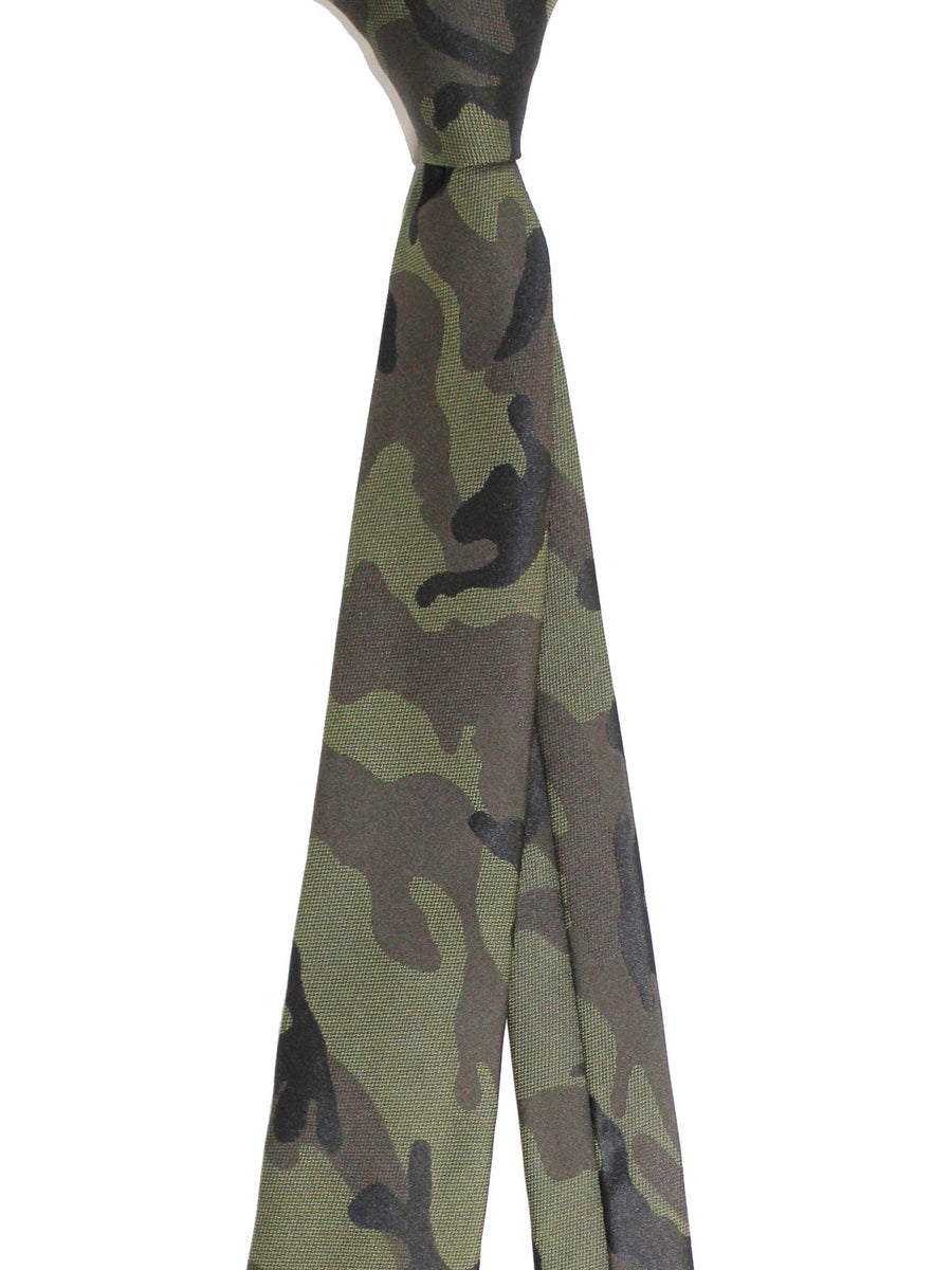 Valentino Skinny Tie Military Green Camouflage