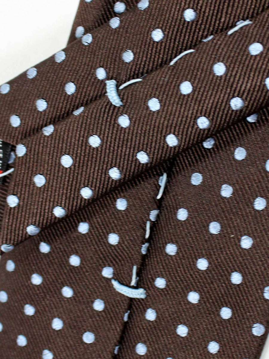 Massimo Valeri Extra Long Tie Brown Dots