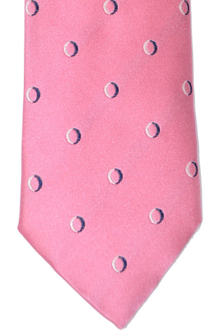 Massimo Valeri Extra Long Tie Pink Dots - SALE