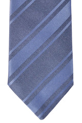 Massimo Valeri Extra Long Tie Metal Gray Stripes