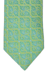 Massimo Valeri Extra Long Tie Lime Green Paisley