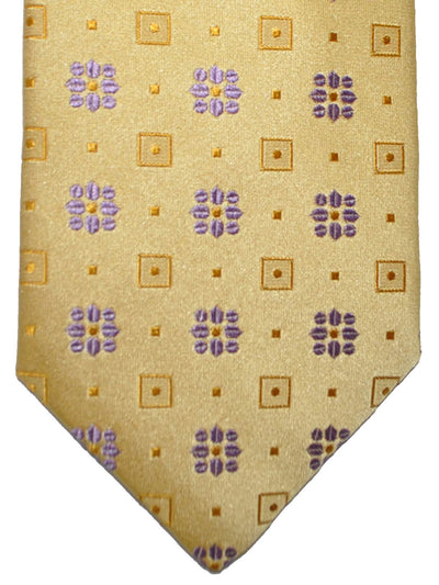 Massimo Valeri Extra Long Tie Mustard-Gold Purple