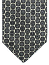 Massimo Valeri 11 Fold Tie Gray Taupe Circles Elevenfold Necktie