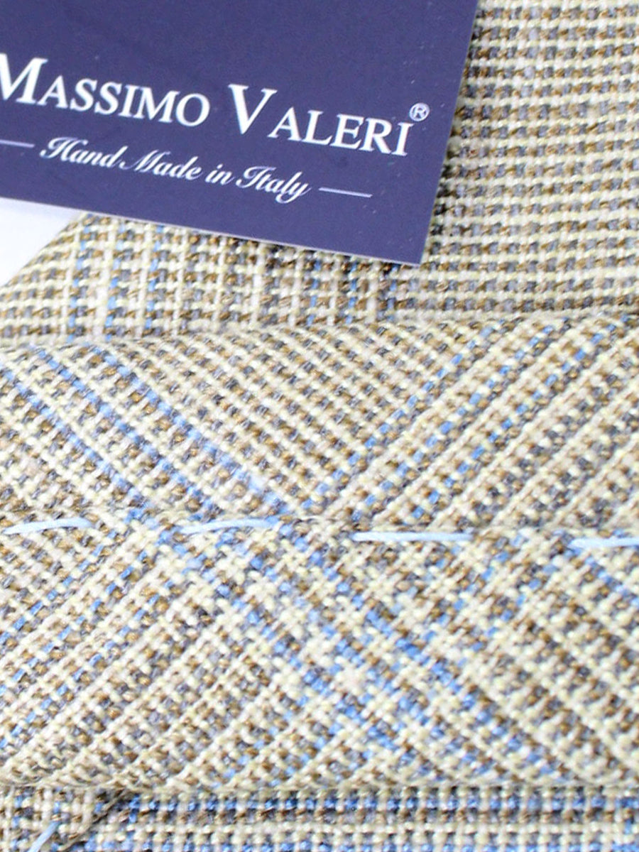 Massimo Valeri Extra Long Tie Cream Gray Plaid