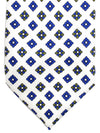 Massimo Valeri Extra Long Tie White Royal Olive Floral
