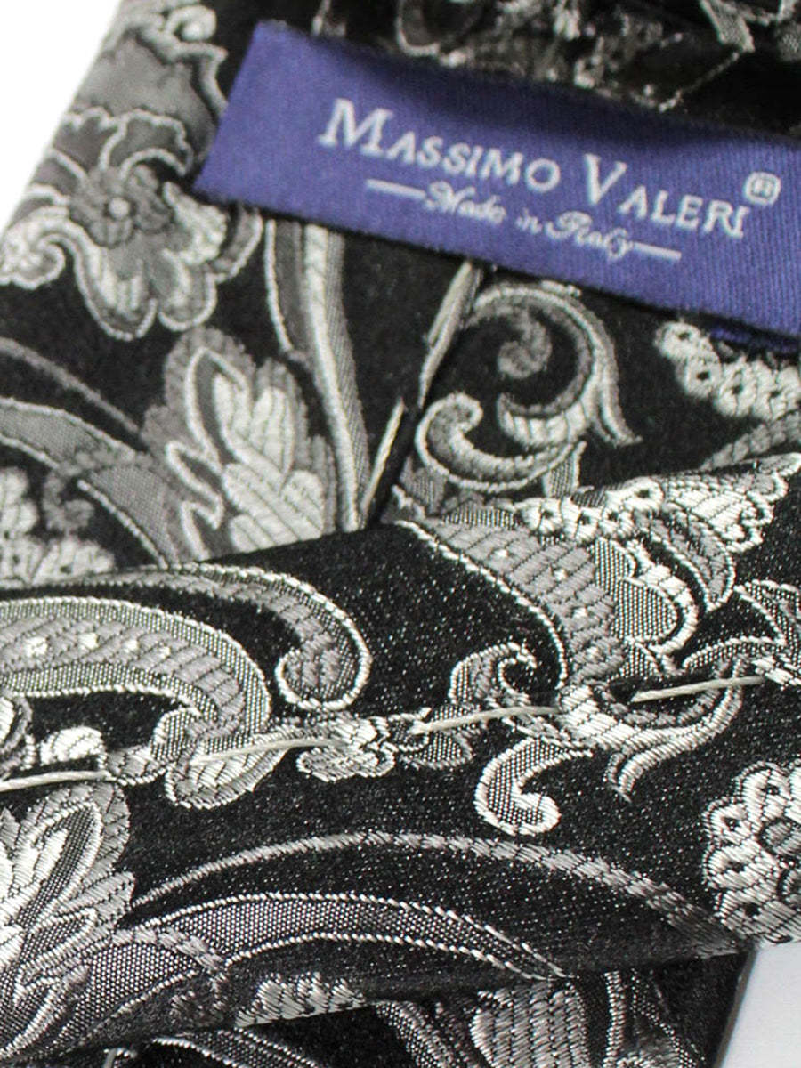 Massimo Valeri Extra Long Tie Dark Gray Ornamental