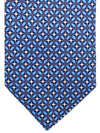 Massimo Valeri Extra Long Tie Blue Geometric