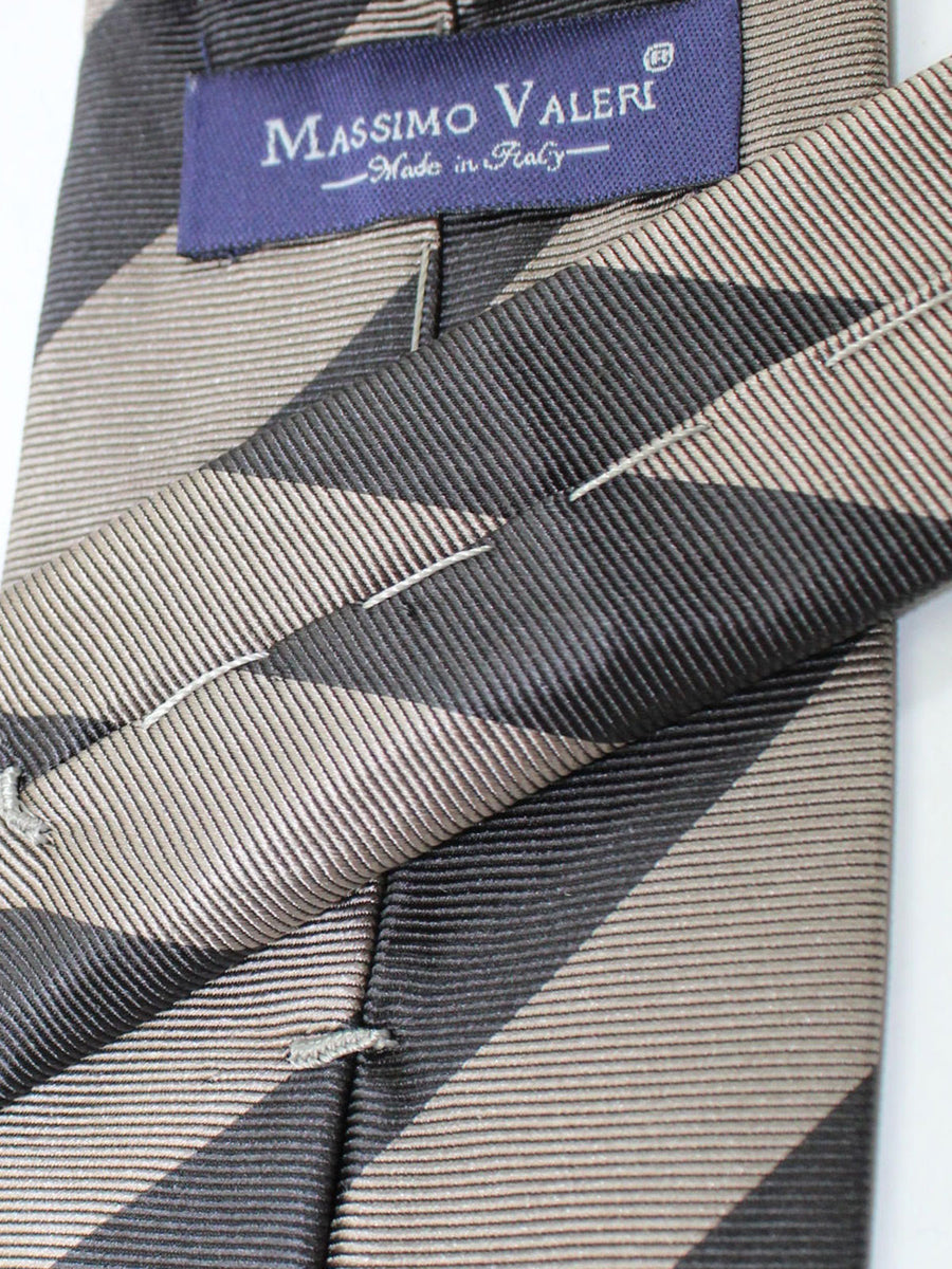 Massimo Valeri Extra Long Tie Gray Stripes