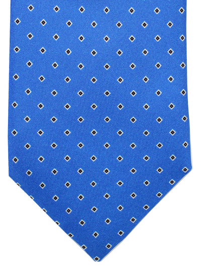Massimo Valeri Extra Long Tie Royal Geometric