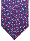 Massimo Valeri Extra Long Tie Navy Red Floral