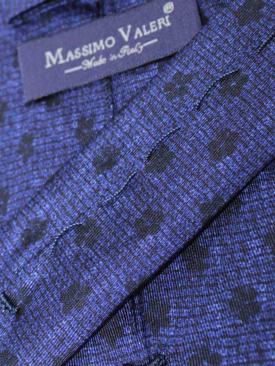 Massimo Valeri Extra Long Tie Navy Black Floral