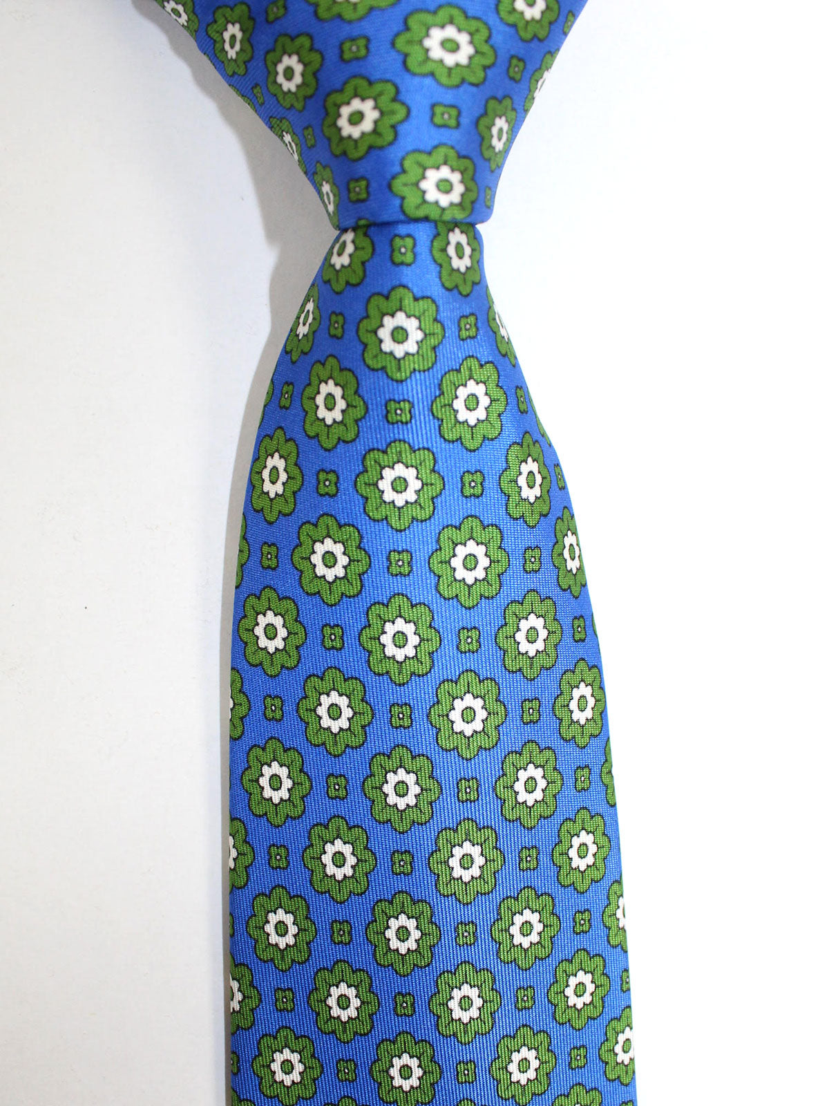 Massimo Valeri Extra Long Tie Royal Blue Green Floral
