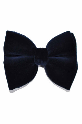 Le Noeud Papillon Bow Tie Large Butterfly Velvet Navy