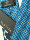 Versace Tie Medusa Baroque Aqua Dark Blue Design - Narrow Cut