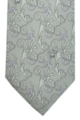 Versace Tie Gray Pink Little Medusa