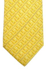 Versace Tie Yellow Greek Stripes