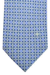 Versace Tie Navy Purple Silver Geometric
