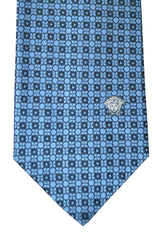 Versace Tie Midnight Blue Geometric SALE