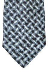 Versace Tie Gray Black Silver Design