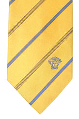Versace Tie Yellow Black Stripes Design