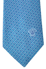 Versace Tie Blue Turquoise Ovals