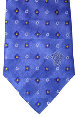 Versace Tie Blue Navy Yellow Geometric