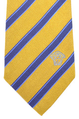 Versace Tie Mustard Navy Stripes