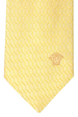 Versace Tie Yellow Geometric
