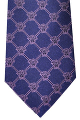 Versace Tie Purple Lilac Logo - Made in Italy