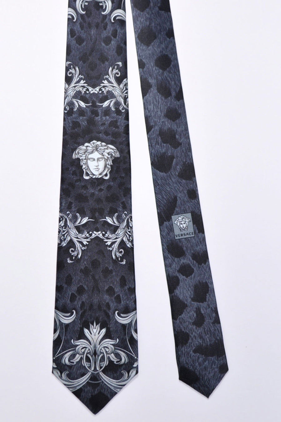 Versace Tie Gray Medusa - Made in Italy