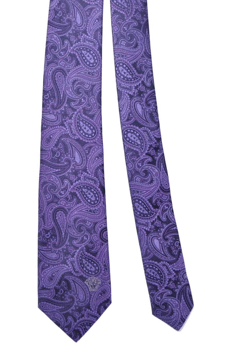Versace Tie Purple Paisley - Made in Italy