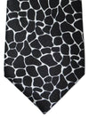 Versace Silk Tie Black White Gold Design