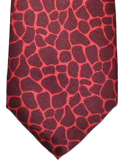 Versace Silk Tie Maroon Red Gold Design
