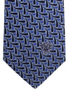 Versace Silk Tie Navy Blue Paisley - Made in Italy
