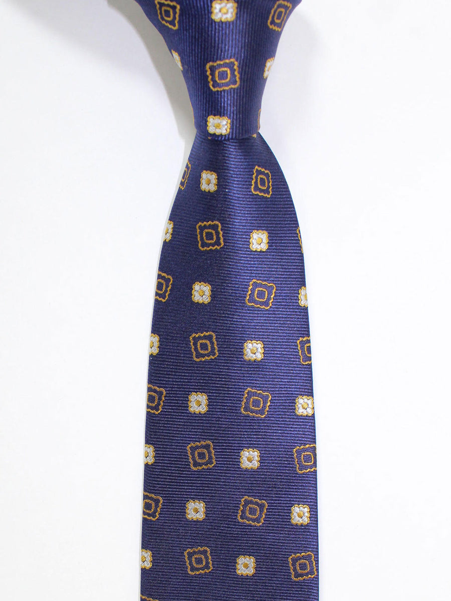 Versace Silk Tie Purple Gold Silver Geometric - Made in Italy