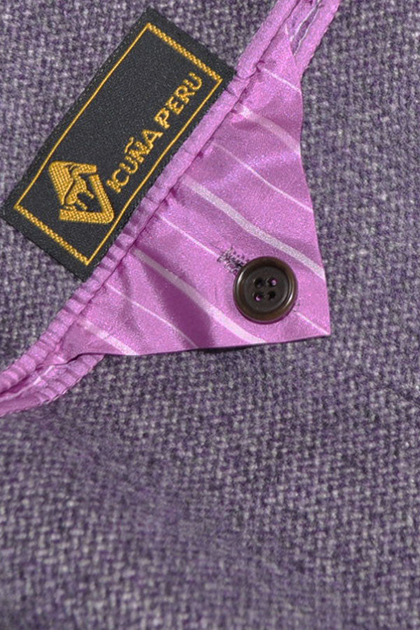 Kiton Vicuña Cashmere Coat Lavender Gray Winter Coat