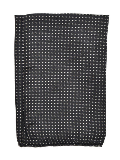 Vitaliano Pancaldi Pocket Square Black White Dots