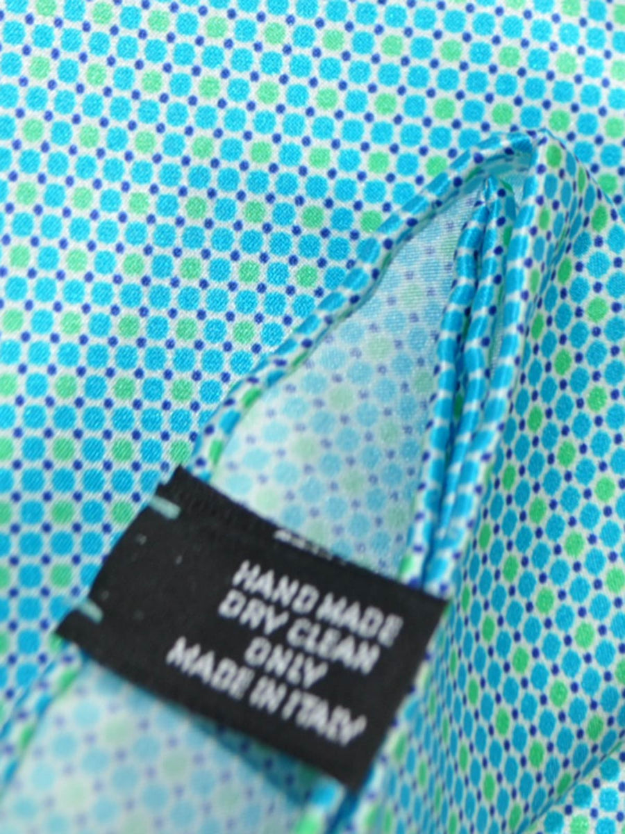 Vitaliano Pancaldi Pocket Square Aqua SALE
