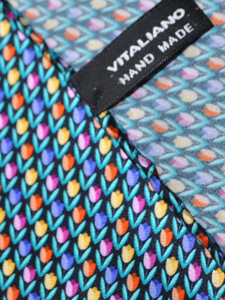Vitaliano Pancaldi Silk Pocket Square Flowers