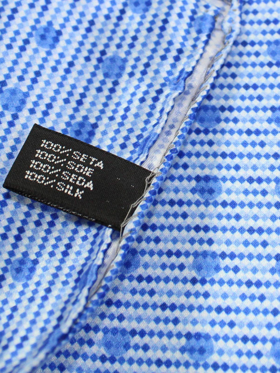 Vitaliano Pancaldi Pocket Square Blue Polka Dots