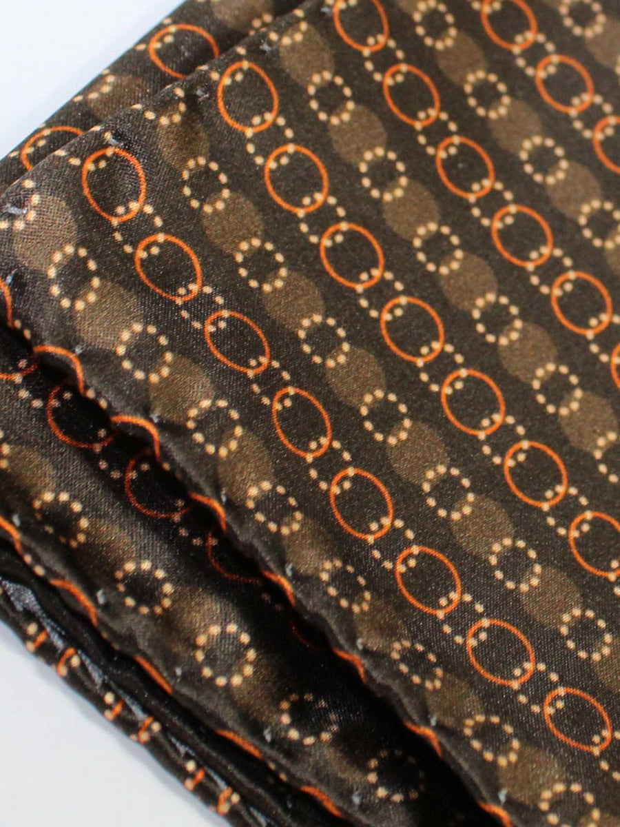 Vitaliano Pancaldi Silk Pocket Square Brown Design