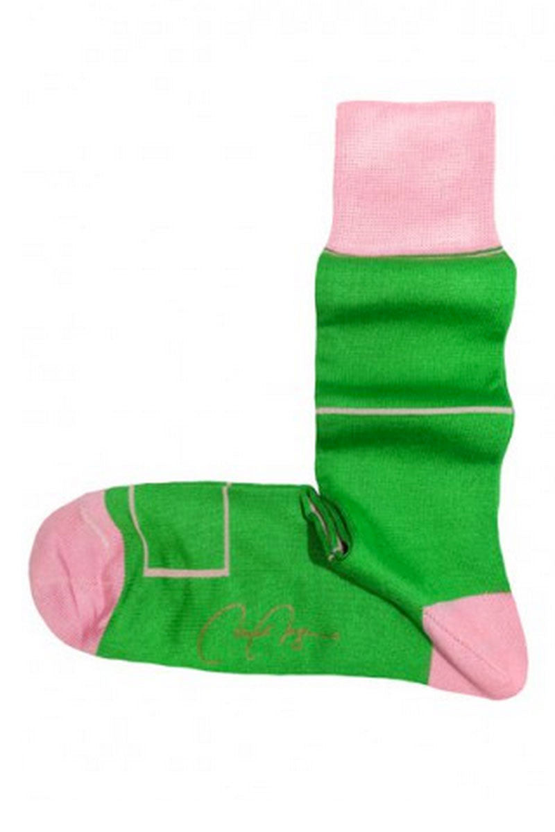 VK Nagrani Men Socks Green Pink Four Seasons