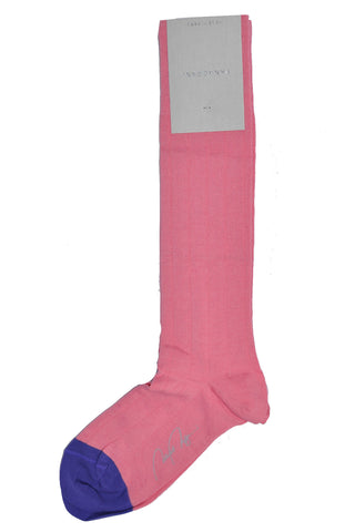 VK Nagrani Men Socks Pink Over-The-Calf Socks