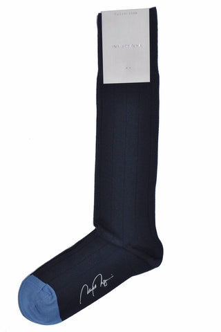 VK Nagrani Men Socks Navy Over-The-Calf Socks
