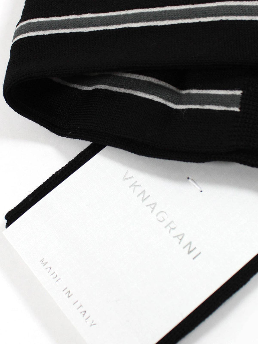 VK Nagrani Men Socks Black Stripe - Over The Calf