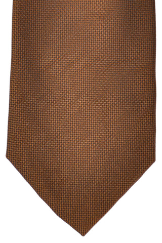 Zilli Tie Brown Black Geometric - Wide Necktie