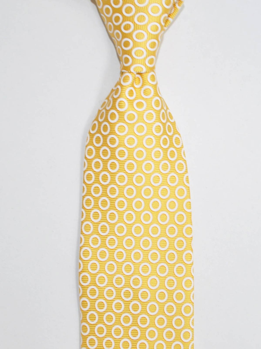 Ermenegildo Zegna Tie Yellow-Gold White Circles