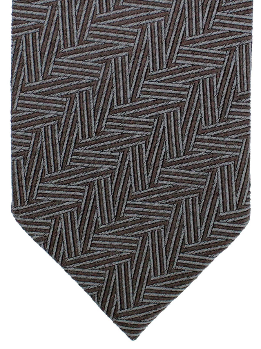 Ermenegildo Zegna Tie Brown Cream Paisley - Premium Collection