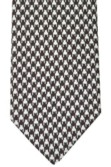 Ermenegildo Zegna Tie Brown White