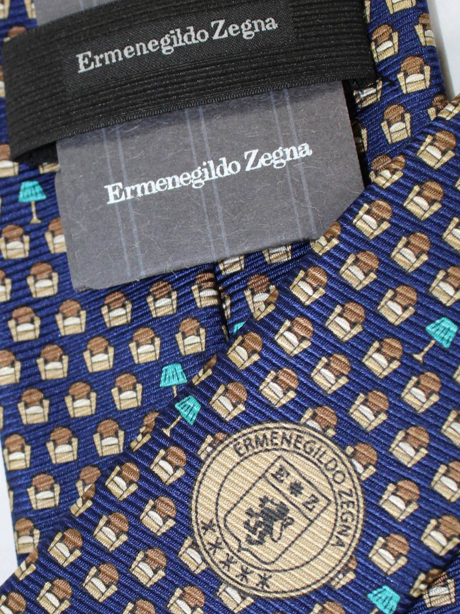 Ermenegildo Zegna Tie Lapis Blue Lazy Chair